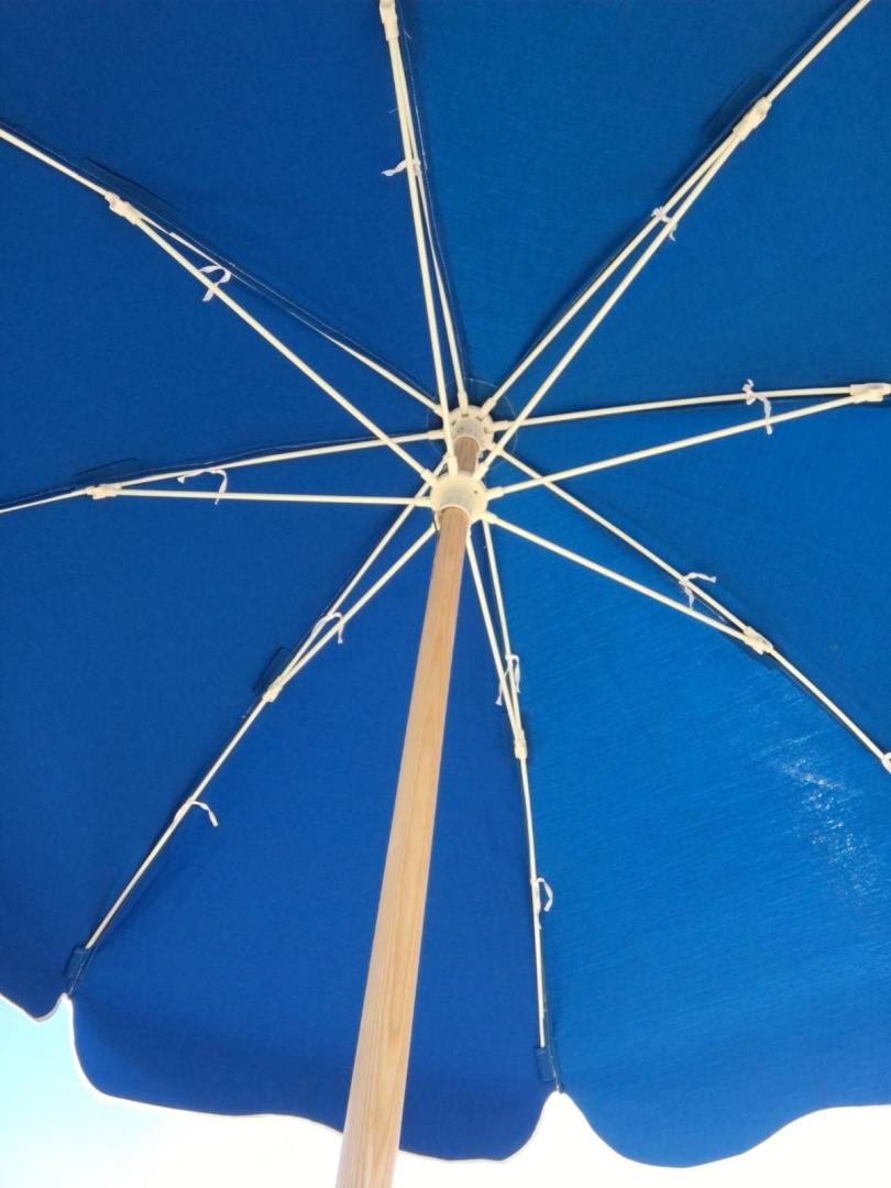 Beach Umbrella 7.50 Ft by 8 Ribs, Push-up, Fiberglass Ribs, Canvas, 2 Piece Ash Wood or Aluminum Pole Point (1 Piece Aluminum Point)4